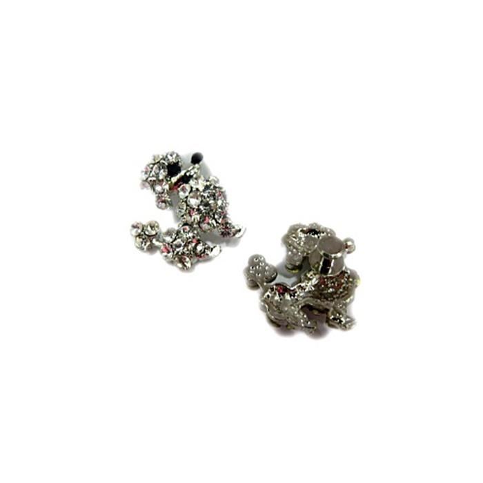 Piercing Poodle níquel (Par)- PIN36
