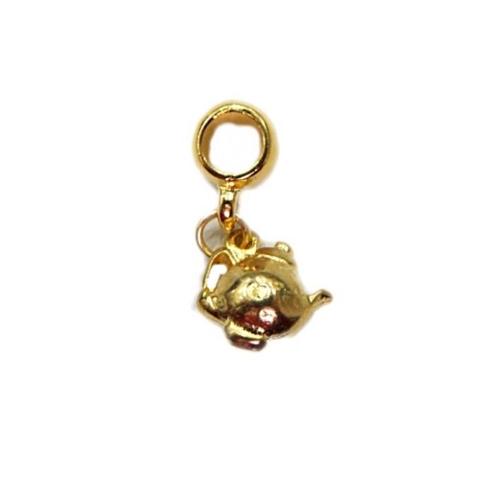 Berloque Dourado Bule Roliço BED023