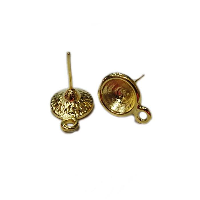 Base de brinco dourada (3 pares)- BAD009