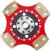 Disco de Cerâmica 4 pastilhas SEM mola Gol Santana Parati Saveiro Passat Voyage 1.8 e  2.0 motor AP 210mm 24 estrias Ceramic Power (7005-AT4)