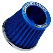 Filtro de Ar Esportivo Mono Fluxo Max Filter Race Chrome Azul