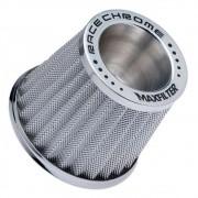 Filtro de Ar Esportivo Mono Fluxo Max Filter Race Chrome Prata