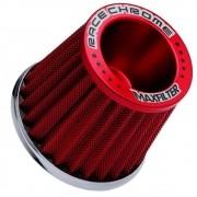 Filtro de Ar Esportivo Mono Fluxo Max Filter Race Chrome Vermelho