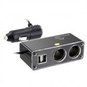 Hub Automotivo Multilaser 12v/5v com Extensão 2 Saídas USB + 2 Acendedores - AU905 (EV01)