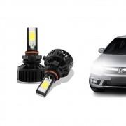 Kit Lâmpada Super LED H7 6000k 12V e 24V 24W 3700LM Efeito Xenon - Tech One