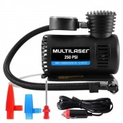 Mini Compressor De Ar Multilaser 12V 3 Adaptadores - Au601 (CPA01)