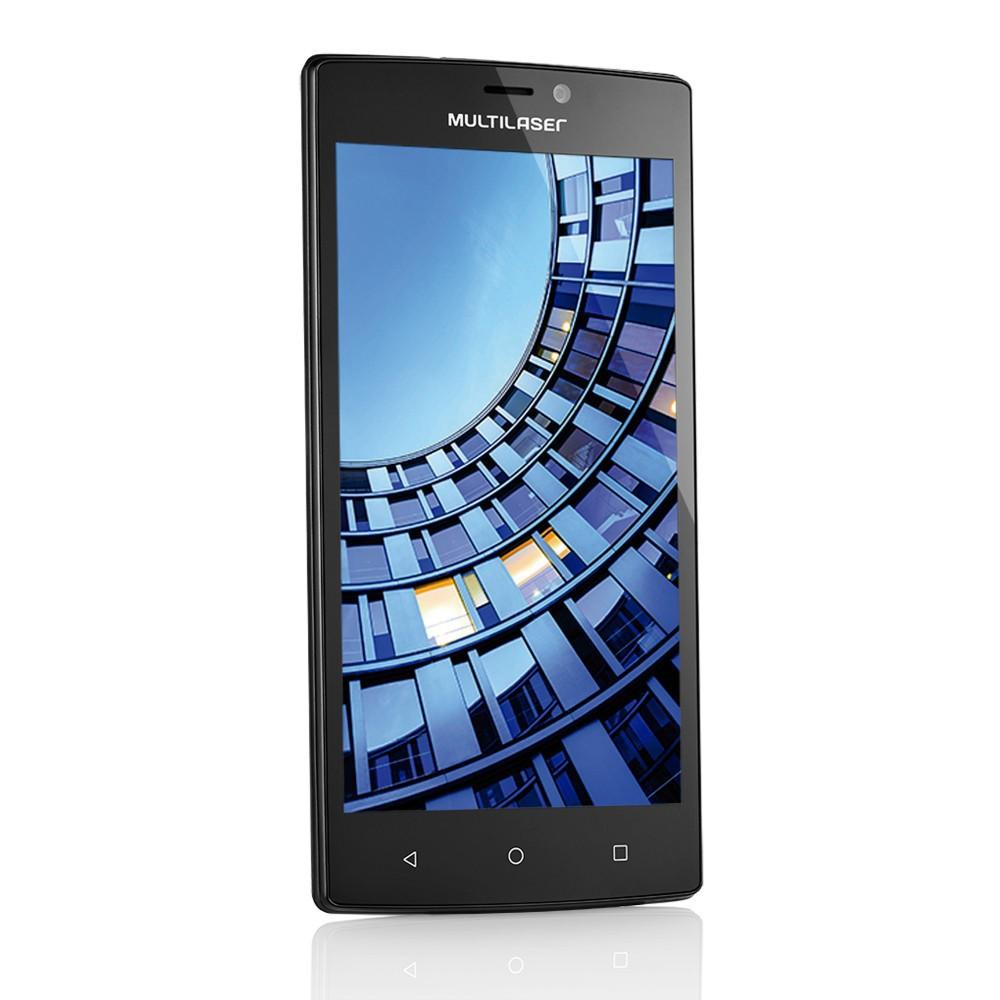 Smartphone Multilaser MS60 Tela 5,5 Polegadas Android 5.1 Memória 16GB Dual Câmera 13 MP e 8 MP + 2 Capas Coloridas P9005