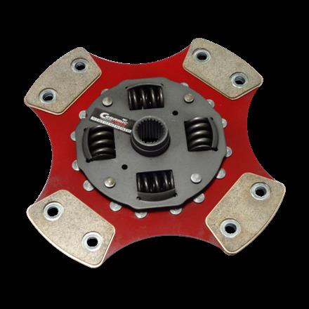 Disco de Cerâmica 4 ou 6 pastilhas com molas Escort 1.0 1.6 8v GL GLX Guia Hobby 94 a 96 200mm 28 estrias Ceramic Power