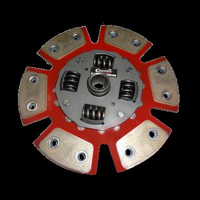 Disco de Cerâmica 6 pastilhas com ou sem molas Maverick 8cil Galaxie 302 V8 250mm 10 estrias Ceramic Power
