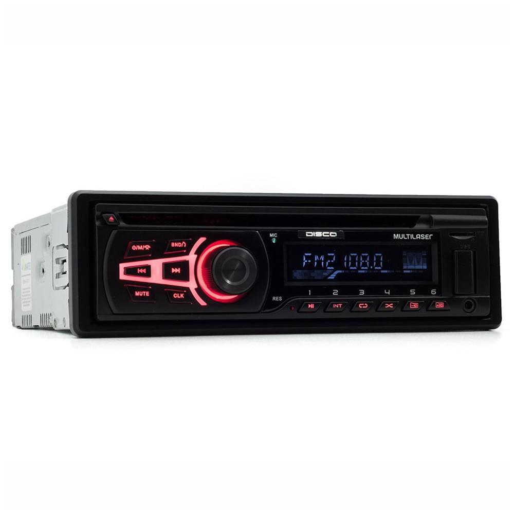 CD Player Automotivo Multilaser Disco USB Aux Bluetooth - P3322 (SA04)