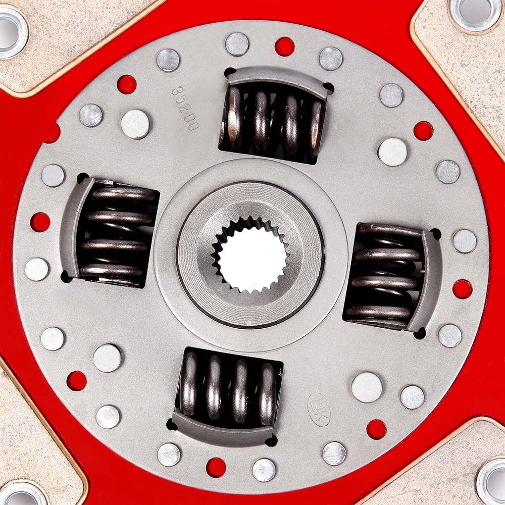 Disco de Cerâmica 4 pastilhas com mola Gol Santana Parati Saveiro Passat Voyage 1.8 e  2.0 motor AP 210mm 24 estrias Ceramic Power