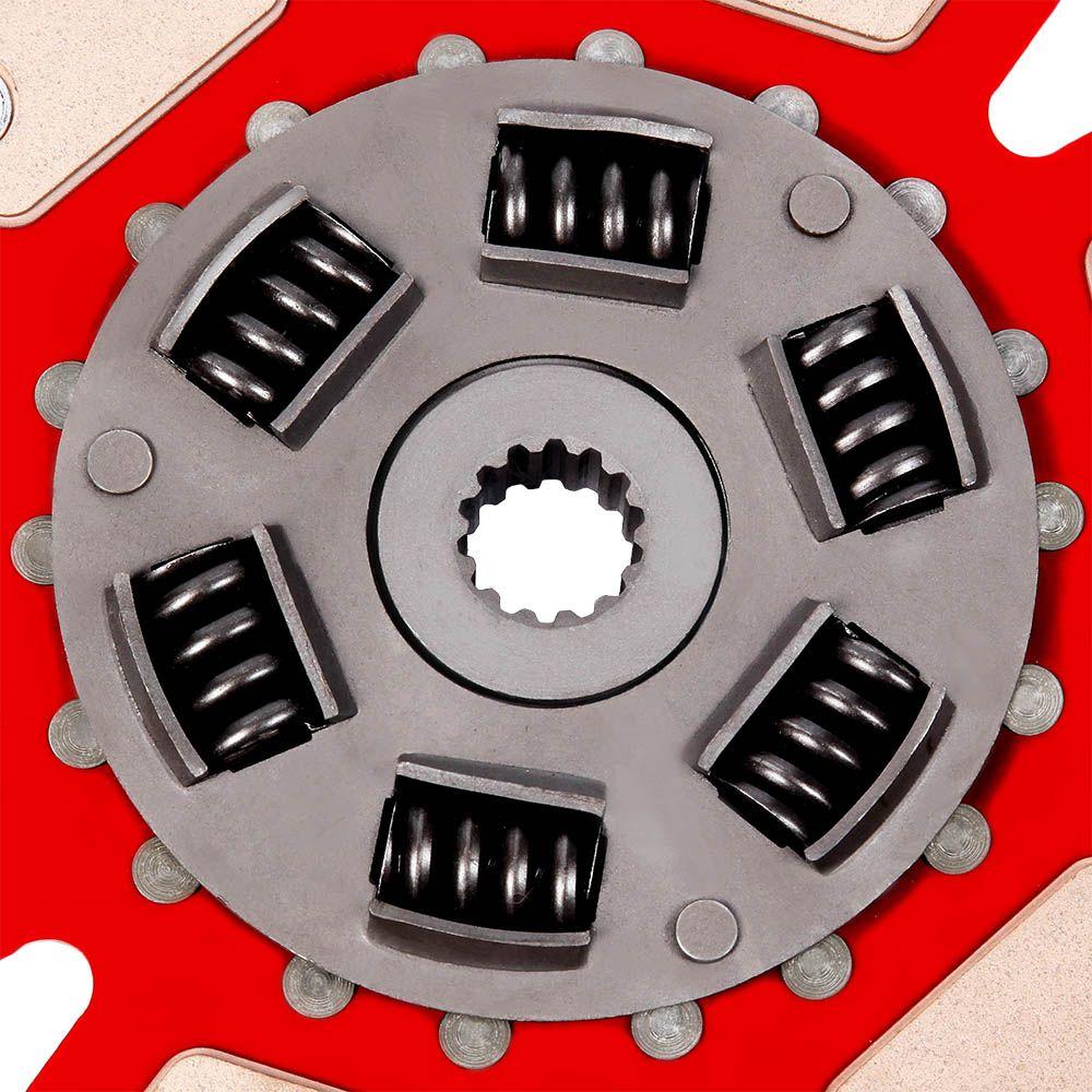 Disco de Cerâmica 6 pastilhas com mola Opala 4 e 6 cilindros após 73 esrtia fina 230mm 14 estrias Ceramic Power (7049-TM6)