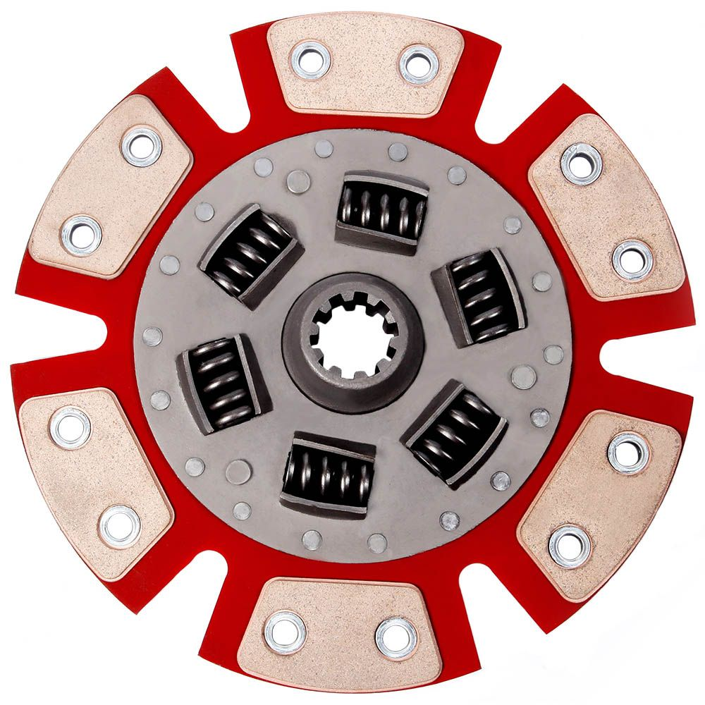 Disco de Cerâmica 6 pastilhas com mola Opala 4 e 6 cilindros até 73 estria grossa 230mm 10 estrias Ceramic Power (7048-TM6)