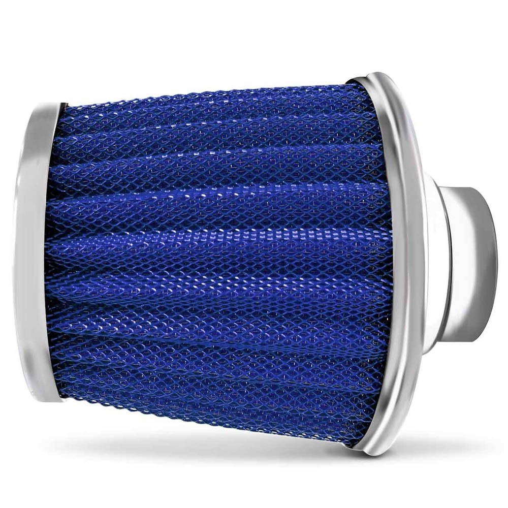 Filtro de Ar Esportivo Duplo Fluxo Max Filter Race Chrome Azul