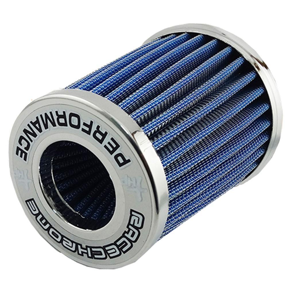 Filtro de Ar Esportivo Duplo Fluxo Race Chrome Pequeno Azul