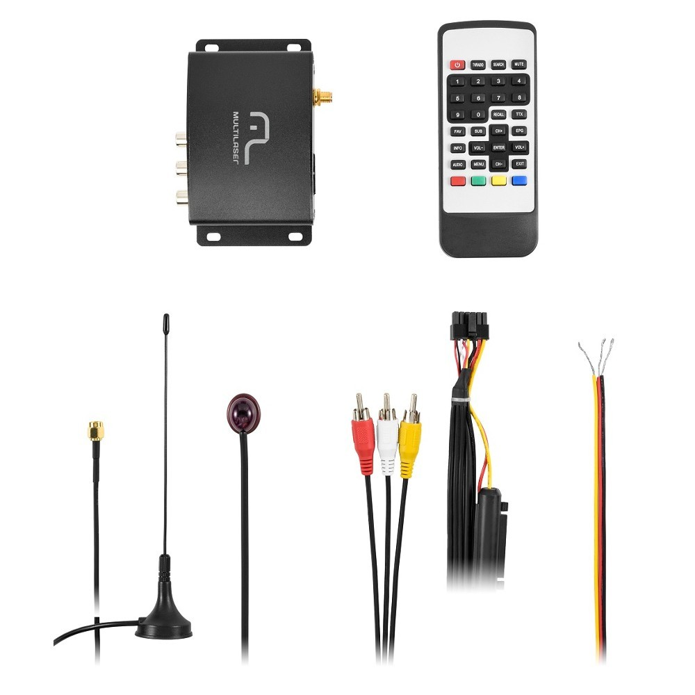 Receptor de TV Digital Multilaser Automotivo 1Seg - AU907 (RCP01)