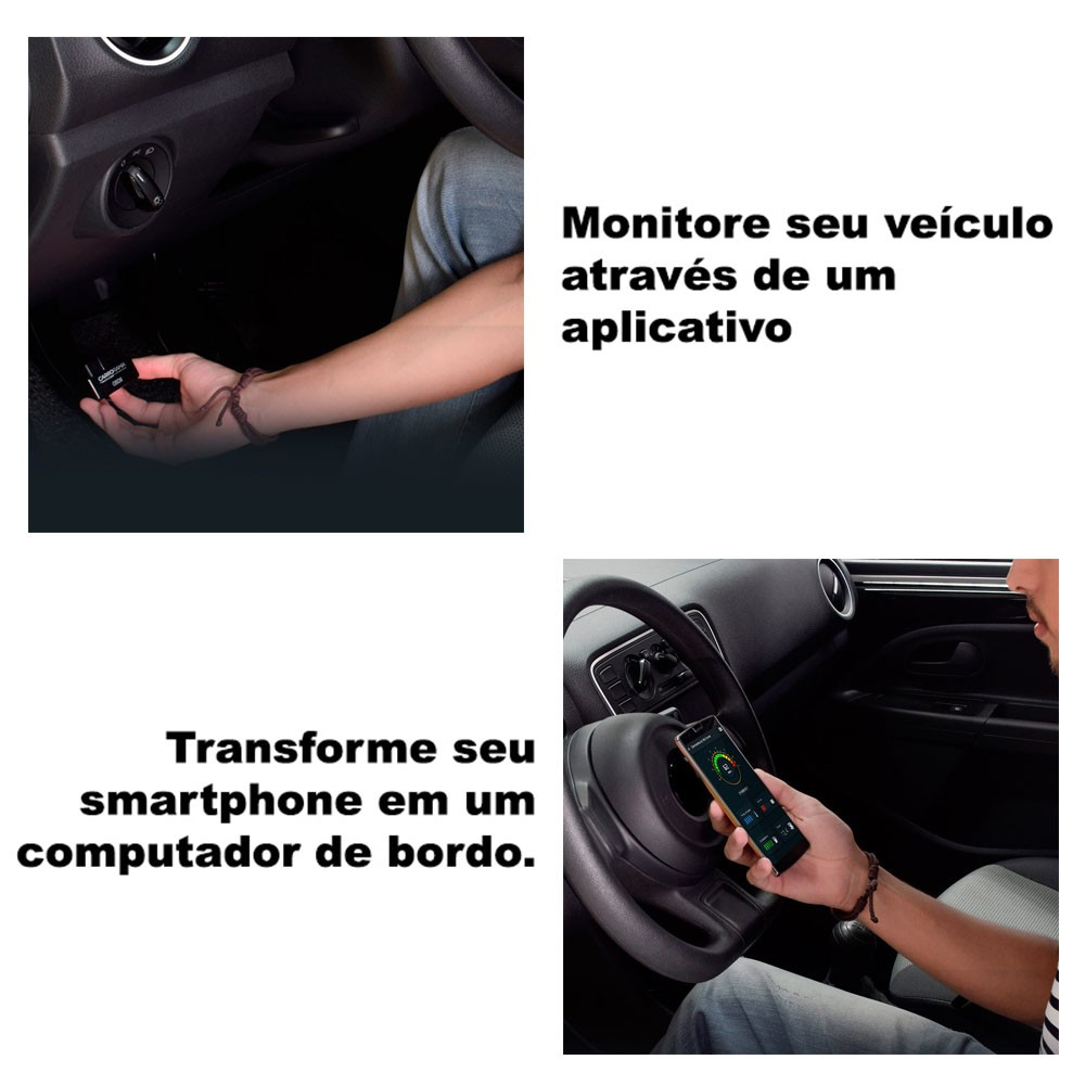 Scanner Automotivo Computador de Bordo Bluetooth Carrorama by Multilaser OBDII - AU205 (DA01)