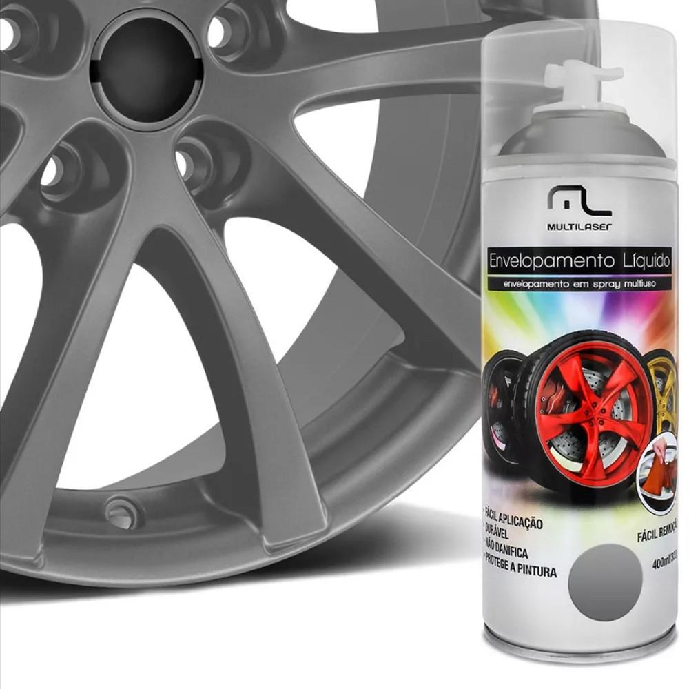 Spray de Envelopamento Líquido Multiuso Multilaser 400 ML Prata AU423 (EL06)