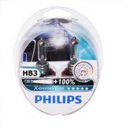 Kit Lampadas Philips Extreme Vision HB3 - Dobro Alcance
