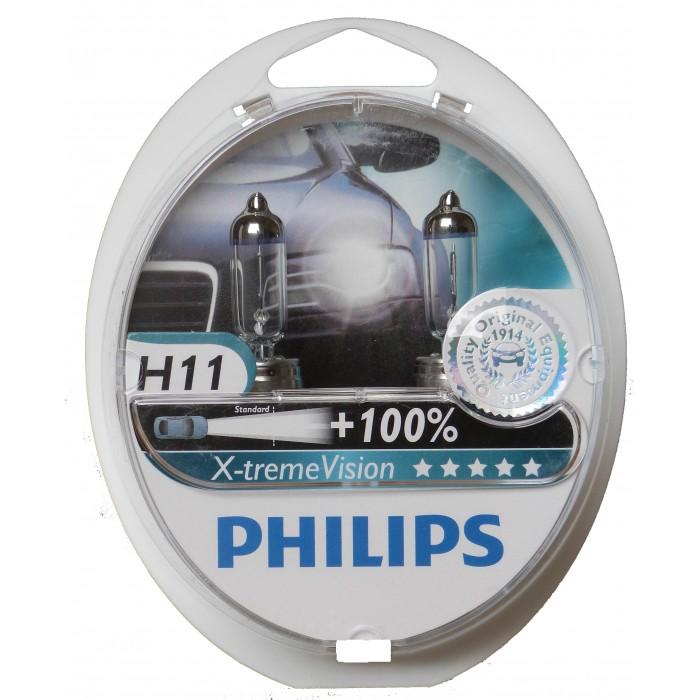 Kit Lampadas Philips Extreme Vision H11 - Dobro Alcance