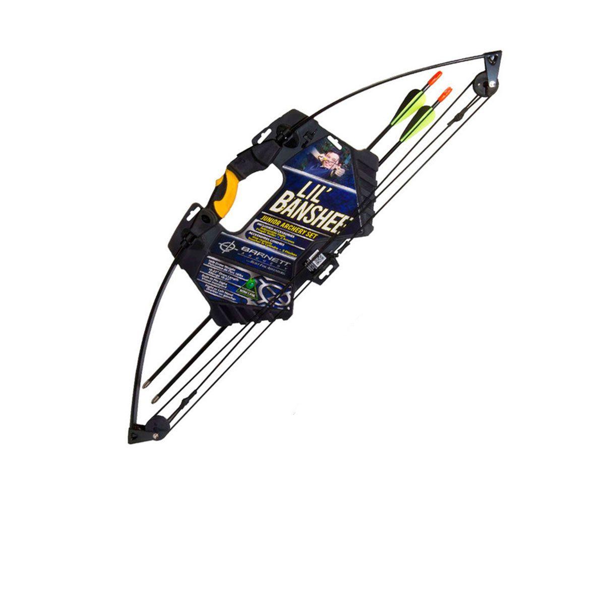 Arco Barnett Commader Lil`Banshee 18Lb c/ 2 Flechas Inclusas - Ambidestro Preto
