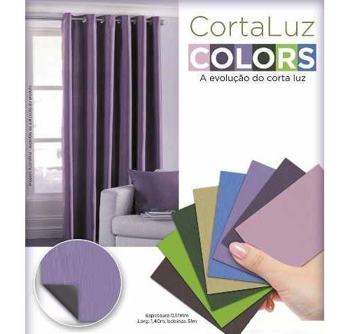 Cortina Corta Luz Blackout 1,40x1,80 Collors  Admirare