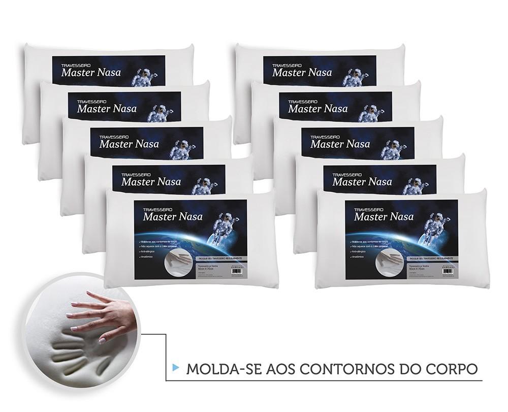 Kit Travesseiro Nasa 10 Pecas - Antialergico - Toque Macio