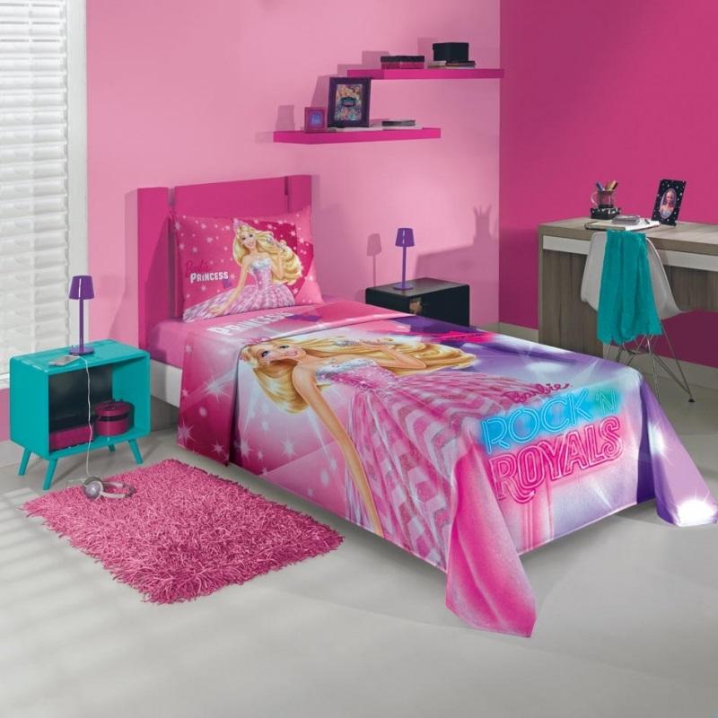 Jogo de cama 2 Peças Barbie Rock Royals | Lepper