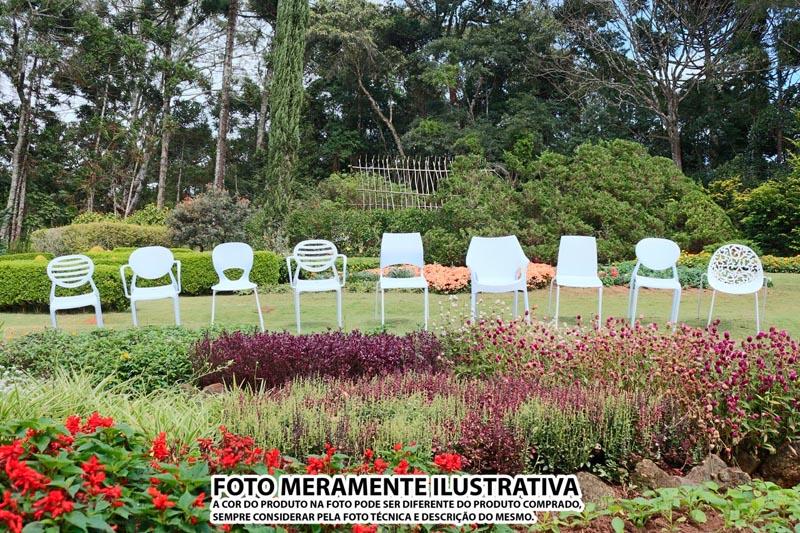 CADEIRA SLICK COM BRAÇO VERMELHA