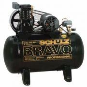 Compressor De Ar Schulz Bravo Csl 10 Br/100 L Monofásico 220