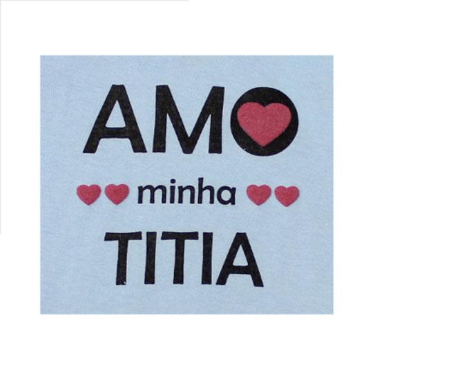 Body Feminina Azul Amo Minha Titia Minilab