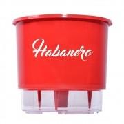 Vaso Autoirrigável Vermelho para Horta - Pimenta Habanero