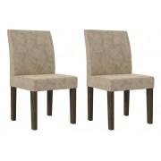 Jogo 2 Cadeiras Europa Imbuia - RV Moveis