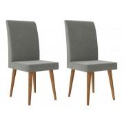Jogo 2 Cadeiras Jade com Cinza Lunar - RV Moveis