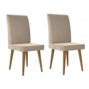 Jogo 2 Cadeiras Jade com Suede Bege - RV Moveis