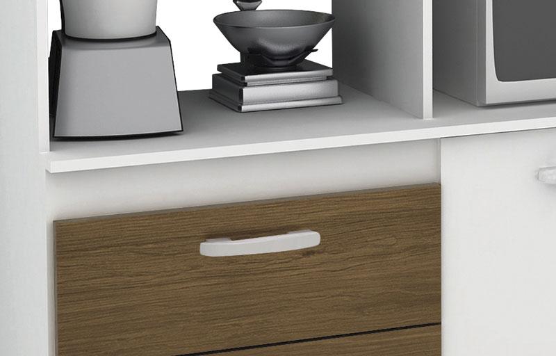 Armario de Cozinha Galax Branco Amendoa - Moveis Primus