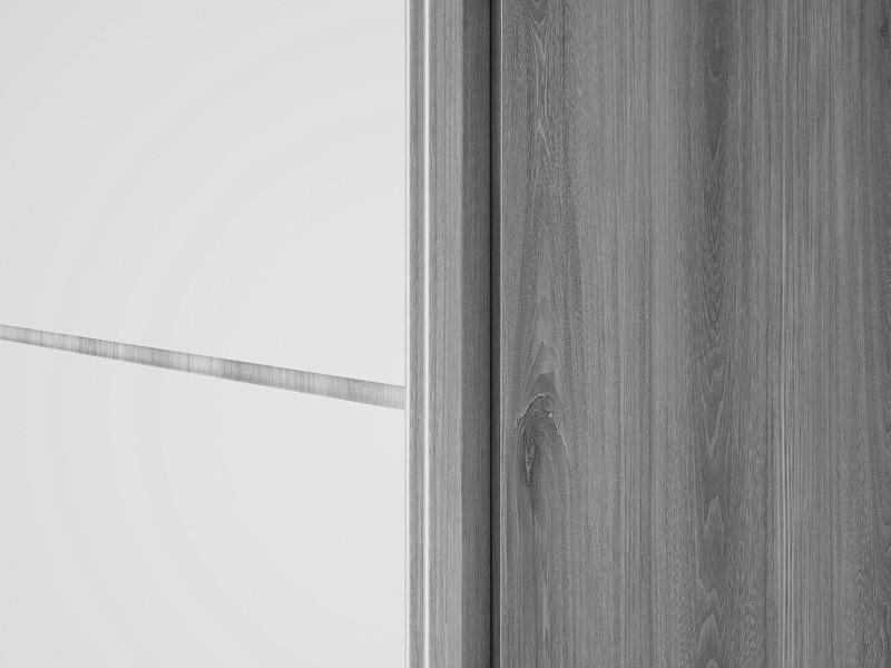 Guarda Roupa 3 Portas de Correr Agata com 6 espelhos Noce - FabriMoveis