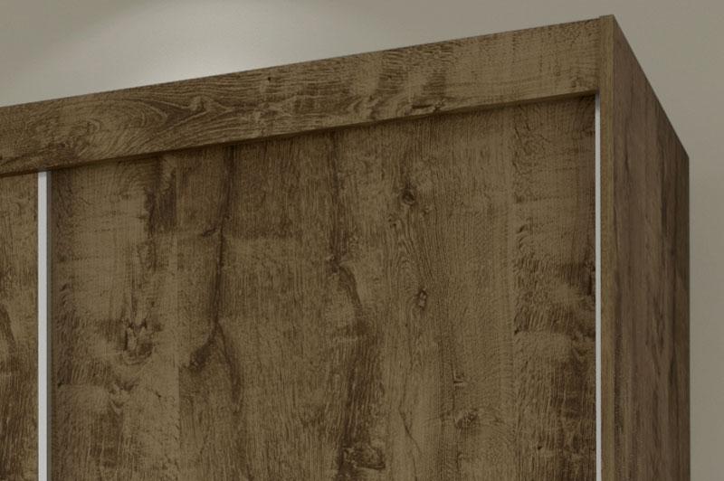 Guarda Roupa Valenca com Espelho Madeira Rustica - Moveis Bechara