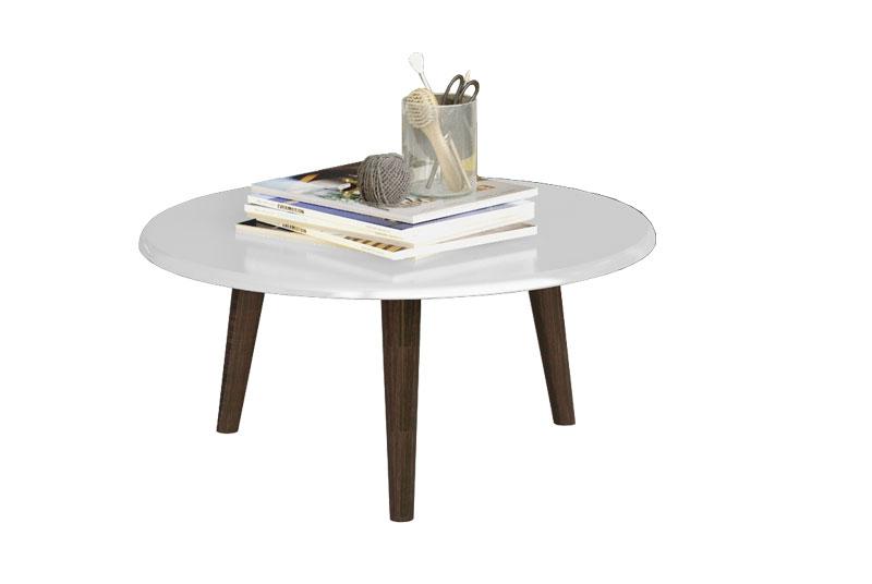 Mesa de Centro Retro Brilhante Branco - Moveis Bechara