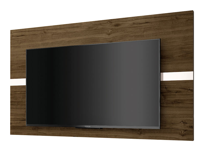 Painel para Tv Refletto Imbuia com Off White - Imcal