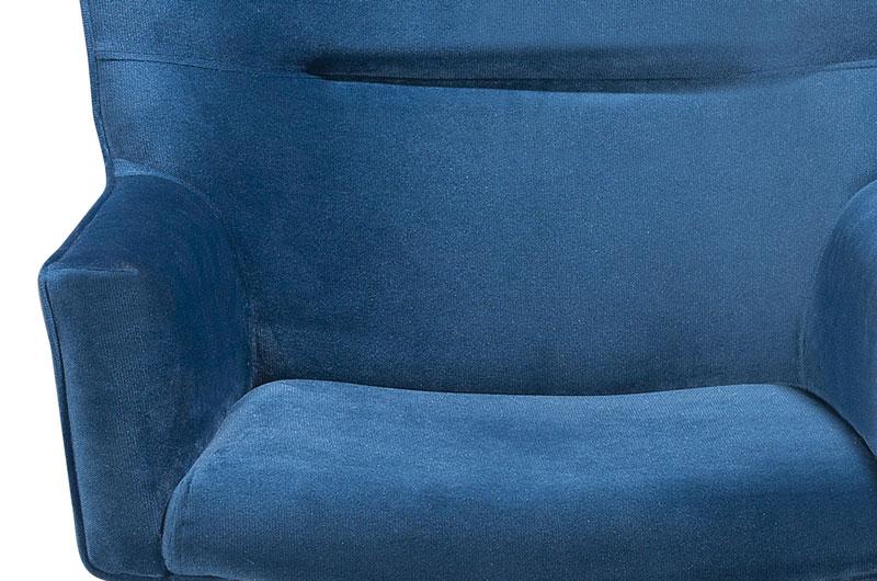Poltrona Luna Azul PR437 giratorio cromado - FortBello Estofados