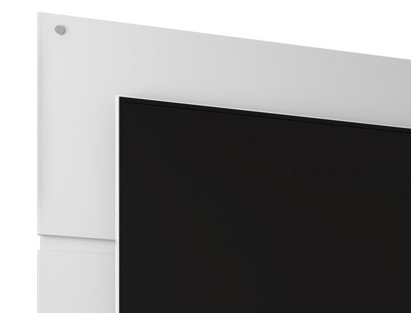 Rack com Painel Creta Branco com Madeira Rustica - Moveis Bechara