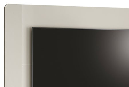 Rack com Painel Luis XV Off White - Edn Moveis