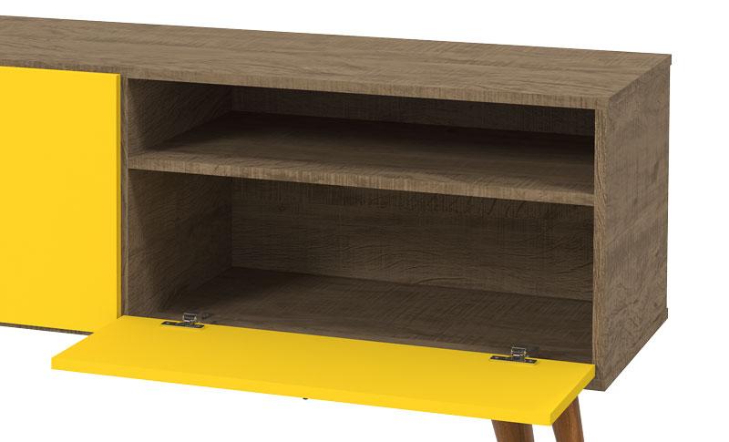 Rack com Painel Topazio Demolicao Amarelo - Patrimar Moveis