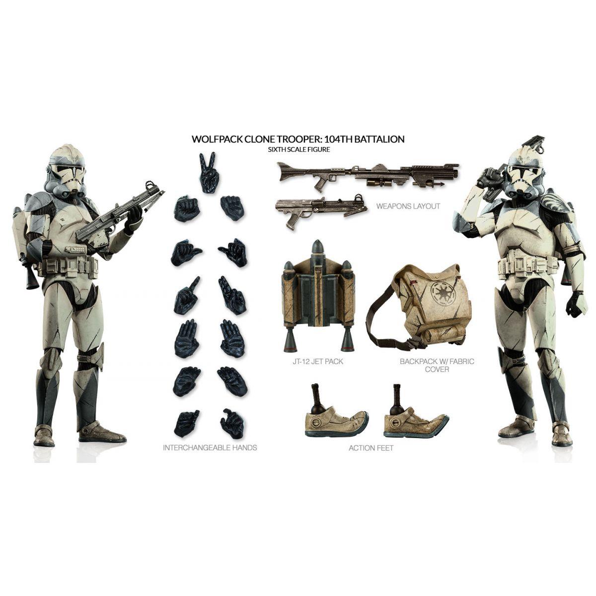 Clone Trooper Wolfpack Star Wars 104Th Escala 1:6 - Sideshow