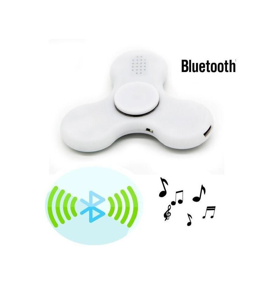 Hand Spinner com Bluetooth Branco - Rolamento Anti Estresse Fidget Hand Spinner