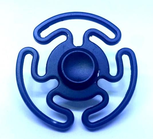 Hand Spinner de Metal Preto Personalizado - Rolamento Anti Estresse Fidget Hand Spinner