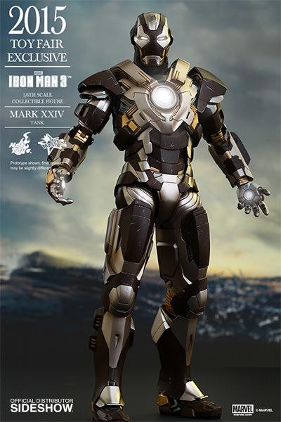 Iron Man Mark XXIV Tank Escala 1/6 - Hot Toys (Produto Exposto)