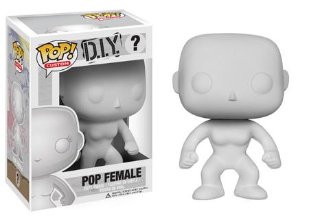 POP! Custom: DIY Female Branco - Funko (EXCLUSIVO)