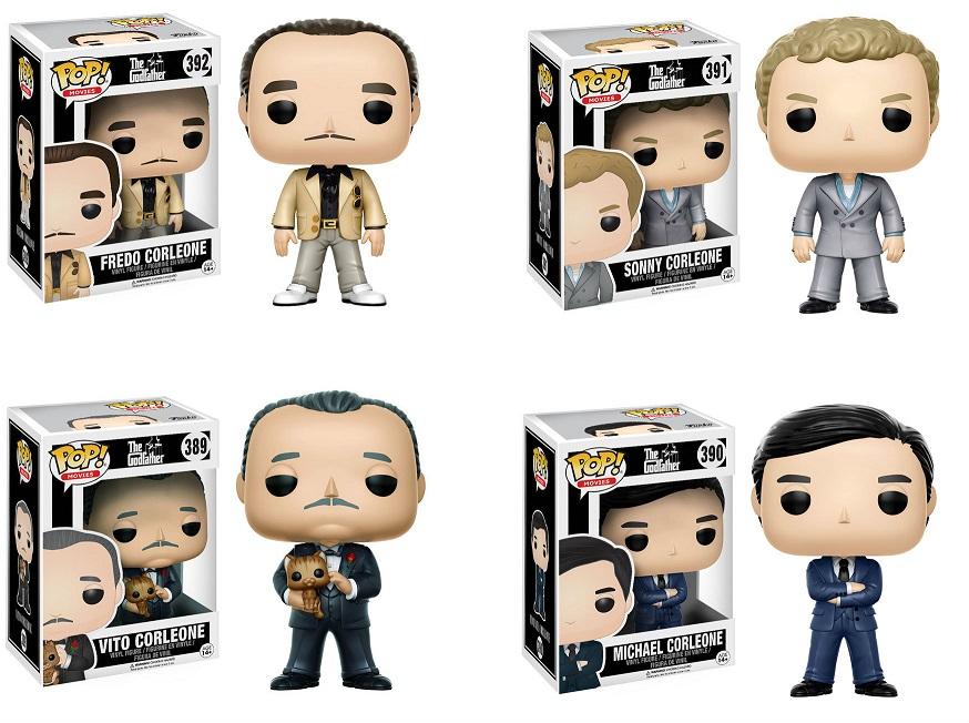 POP! Movies: The Godfather (O Poderoso Chefão) Pack com 4 Figuras - Funko